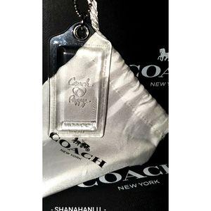 "Coach Clear Acryic Bag Charm Hang Tag XL 3.5"""